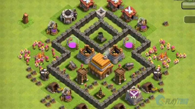 Base Coc Th 4 Kuat 7