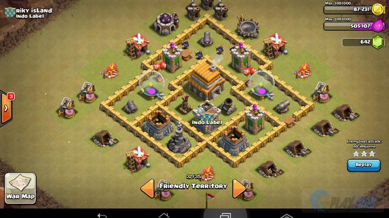 Town hall 5 war base base untuk clan war