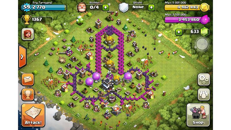 kumpulan base unik game clash of clans page 2 kaskus