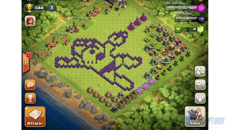 Clash Of Clans Kumpulan Base Unik Dan Kocak Part