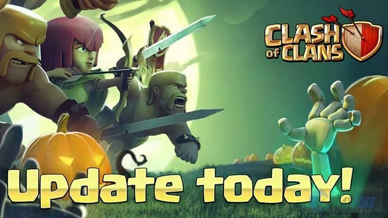 Update Terbaru Clash of Clans bertemakan Halloween