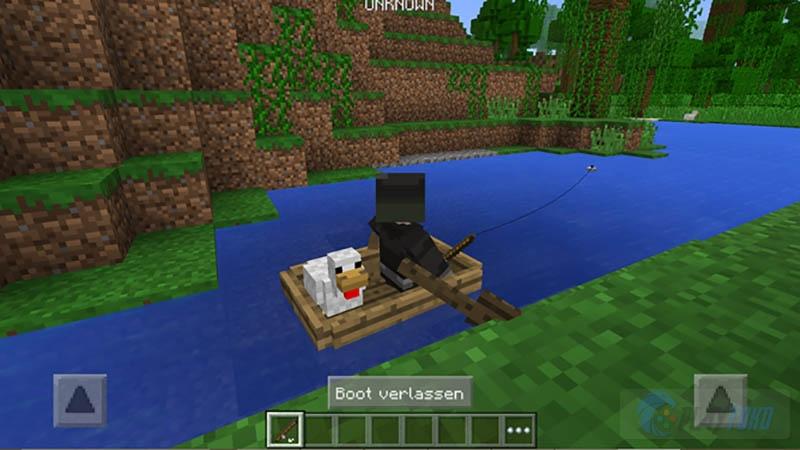 Майнкрафт как сделать лодку на планшете
